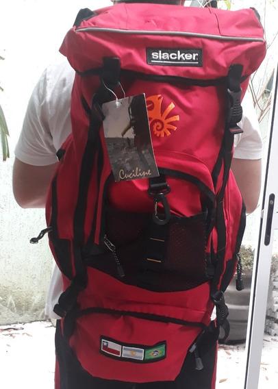 Mochila Grande Alpinismo Camping 30 Litros Cuchiline Slacker