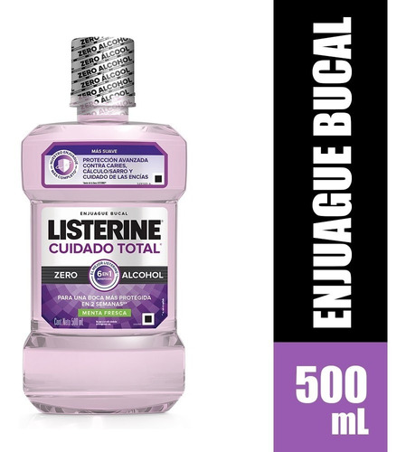 Enjuague Bucal Listerine Cuidado Total Zero X 500ml