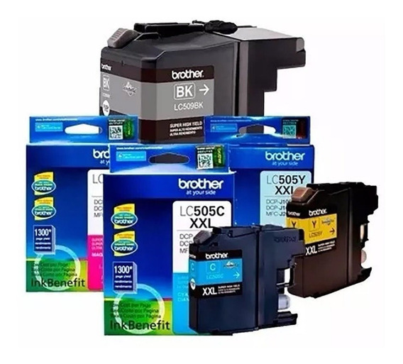 Kit 4 Cartuchos Lc-505 Colors + 1 Lc-509bk Brother (oem)