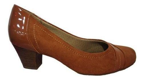 Sapato De Salto Piccadilly Confort Caramelo 111076