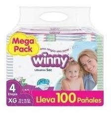 Pañales Winny Etapa 4 X 100 Unidad - Unidad a $845