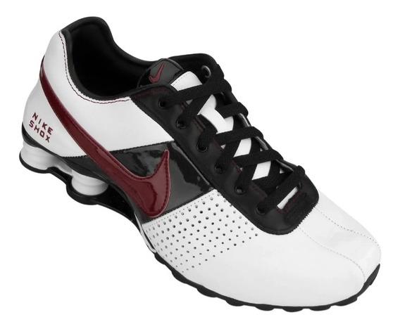 Tênis Nike Shox Deliver Branco Vinho Preto Original