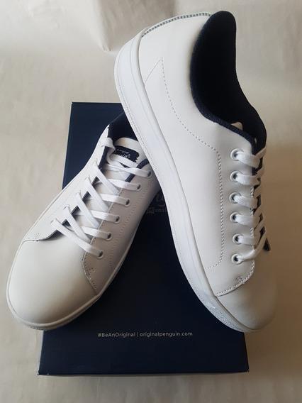 Tenis Blancos De Piel Marca Penguin 11.5 Us - 9.5 Mex ¡¡