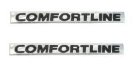 2 Emblemas Comfortline 2 Un. + Brinde Gol Golf Fox Voyage