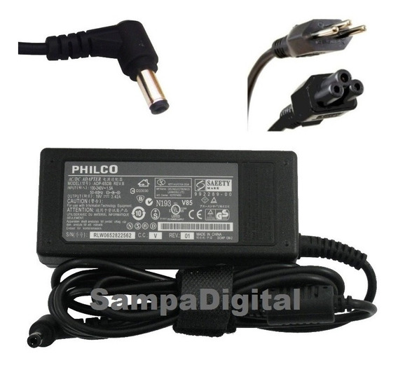 Fonte Notebook Philco Phn14ph24 Phn-14545 65w 19v 3.42a Nova