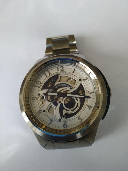Relógio Victor Hugo Automático Todo Em Aço