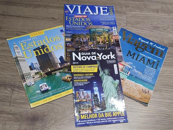Revistas Viagem Nova York Miami Estados Unidos