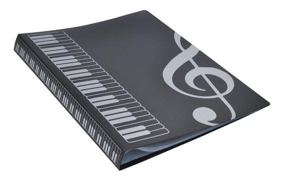 80 Folhas A4 Livro De Música Pastas Piano Tipo Inserção Músi
