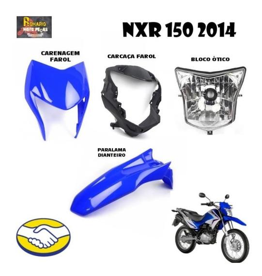 Carenagem Farol Nxr 150 Bros Azul 2013/14 + Frente Completa