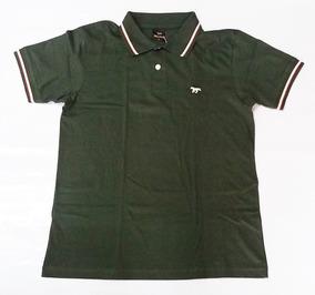Polo Masculina Valmor Camisa Verde Militar Casual Algodão