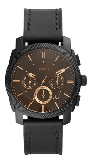 Relógio Masculino Fossil Machine Preto - Fs5586/0p + Nf-e