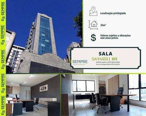 Imagem 1 de 30 de Sala À Venda, 35 M²- Savassi - Belo Horizonte/mg - Sa0053