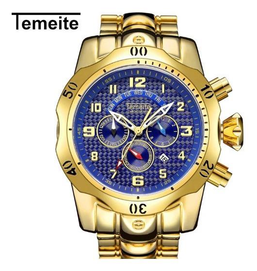 Relógio Temeite Original Funcional Com Box .
