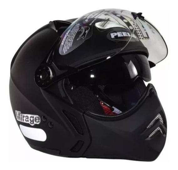 Capacete para moto multi-modular Peels Mirage New Classic preto tamanho 58