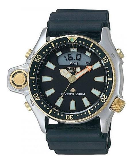 Relógio Citizen Aqualand Jp2004-07e / Tz10137p Profundimetro