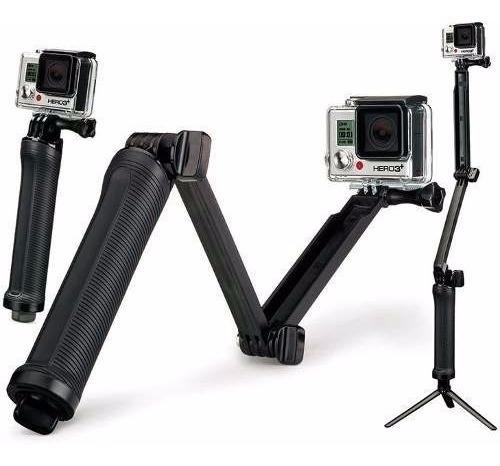 Gopro Go Pro Bastão 3 Formas Selfie Tripe Modelo Novo Hero