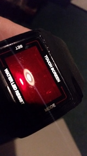 Reloj Digital Nike Pantalla Tactil Numeros Rojos