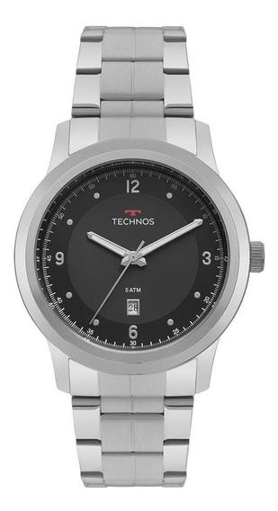 Relógio Technos Masculino Ref: 2115mrh/1p Classic Prata