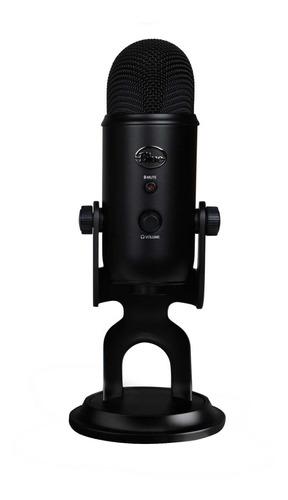 Micrófono Blue Yeti Series Yeti condensador  multipatrón blackout
