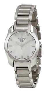 Reloj Mujer Tissot T-wave Plateado Original T0232101111600