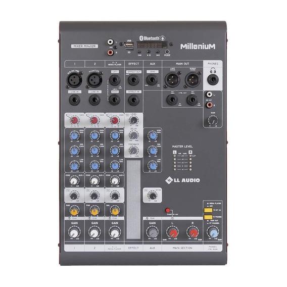 Mesa De Som 4 Canais C/ Usb/sd/bluetooth Mx402r - Ll Audio