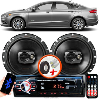Som Automotivo Carro Fusion Sed Radio Mp3 C/ Bluetooth + 2 Alto Falante Pioneer D 6