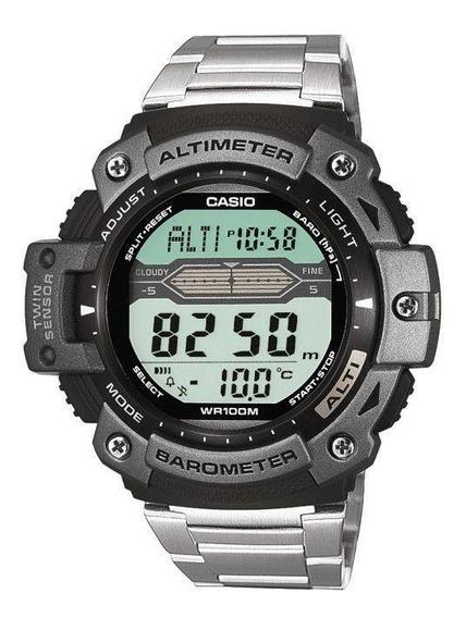 Relógio Casio Masculino Outgear Digital Prata Altimetro