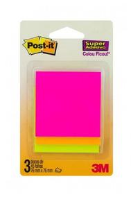 Bloco Adesivo Post-it 3m Cascata 76x76 C/3 Cores 45fls
