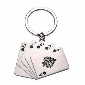 Chaveiro Poker Em Metal Carta Baralho