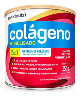 Colágeno Hidrolisado 2em1 Frutas Vermelhas 250g Maxinutri