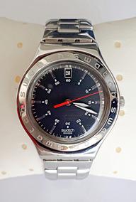 Relógio Swatch Irony Preto C/ Pulseira De Metal