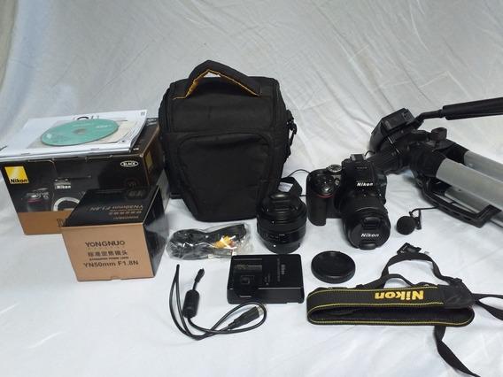 Câmera Nikon D5300dslr Full Hd 24,2 Mp + Kit Fotográfico.