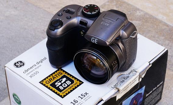 Câmera Digital Semi-profissional Ge X550 Titanium Power Pro