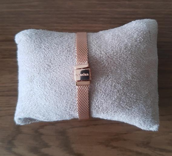 Pulseira Bracelete Pandora Reflexions Banho Ouro Rosê