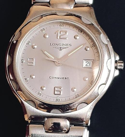 Longines Conquest L1.631.4 Quatz Watch Working, Swiss