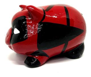 Alcancía Deadpool Cerdito Puerquito Barro Ceramica