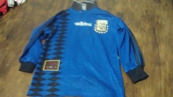 Camiseta Argentina adidas Original Mundial 94, Niño, M/larga