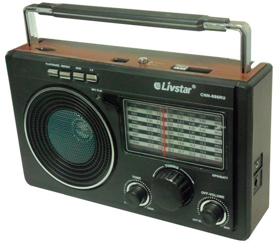 Radio Portatil Livstar Cnn-686bt Radio/usb/sd/bluetooh