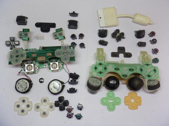 Kit De Peças Botões Dos Controle Joystick Ps3 Play 3 E Ps2