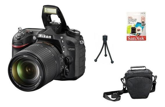 Nikon D7200 + 18-140mm Fullhd Wi-fi + 32gb + Bolsa Tripé Nov