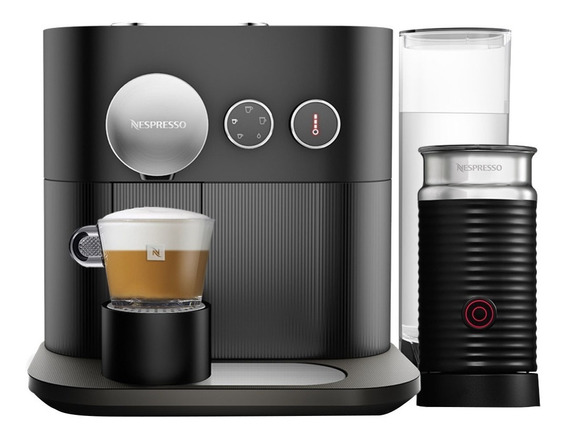 Máquina De Café Nespresso Expert, Preta Com Aeroccino