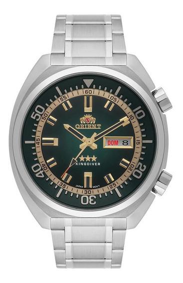Relógio Masculino Automático Prata Orient 3 Estrelas Data+nf