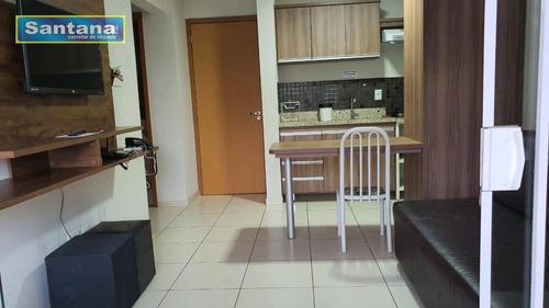 Apartamento Com 2 Dormitórios À Venda, 57 M² Por R$ 296.000,00 - Termal - Caldas Novas/go - Ap0696