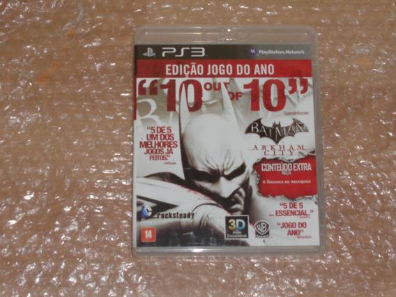Batman Arkham City - Ps3 - Novíssimo - Frete R$ 17