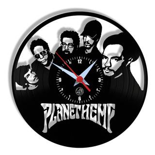 Relógio De Parede Vinil - Planet Hemp Banda Nacional