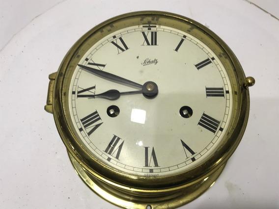 Hermoso Reloj Alemán Original Schatz Marinero Vintage Bronce