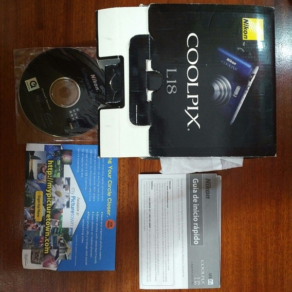 Caja, Cables Y Manual Con Cd De Nikon Coolpix L18
