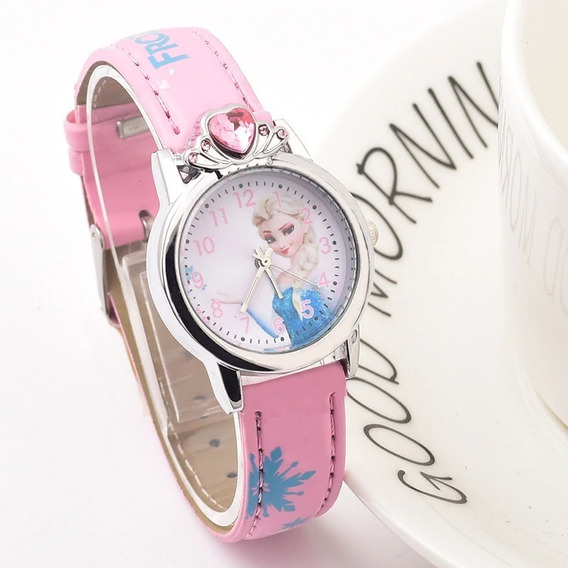 Relógio Infantil Elsa Frozen Disney Strass - Promoção