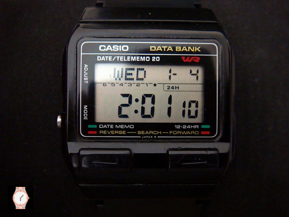 Raro Reloj Casio Db-25 Data Bank De Colección. Japan