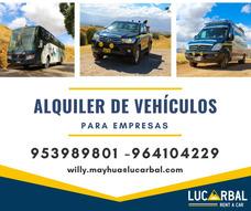 Alquiler De Furgonetas, Minivan Y Camionetas Huancavelica